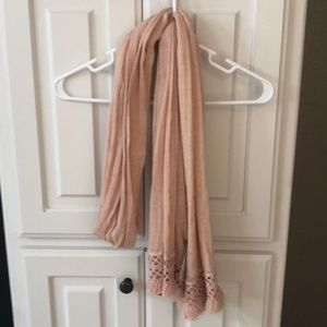 NWT J Crew blush colored scarf